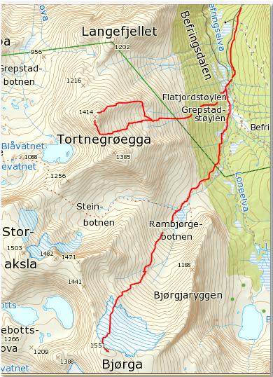 Bjørga og Tortnegrøegga 2