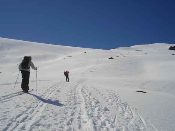 Bilde ifrå oppstigninga til Blåtind