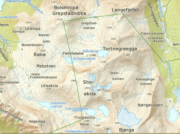 Fossheimsdalen og befringsdalen