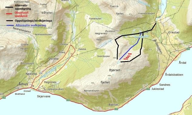 Kart bjørsetfjellet 2
