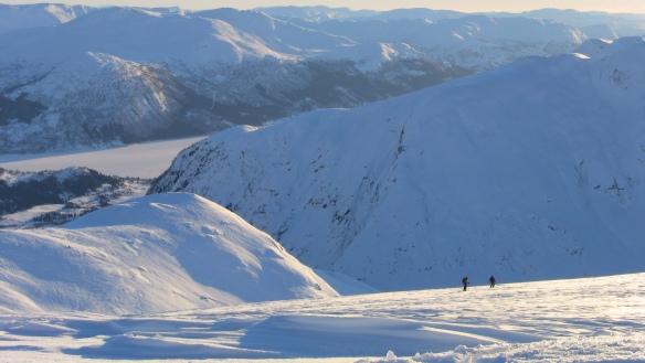 Bilde av utsikten ifrå Gotdalsnipa