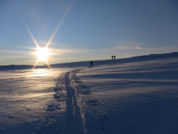 Topptur på Blåfjellet i Sogndalsdalen 8 januar