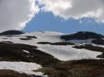 Snøforholdene på Vikafjellet 6 juli i 2012
