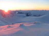 Solnedgang sett ifrå Tortnegrøegga