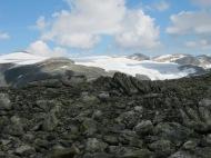 På fjellryggen ifrå Daurmål bort til Trollebotseggane er det fin utsikt til Snønipa.