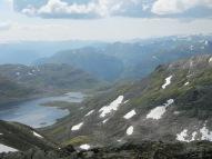 Trollbotsvatnet sett ifrå fjellryggen som går bort til Trollebotseggane